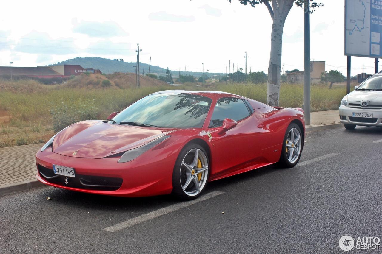 2014 Ferrari 458 Spider Gray
