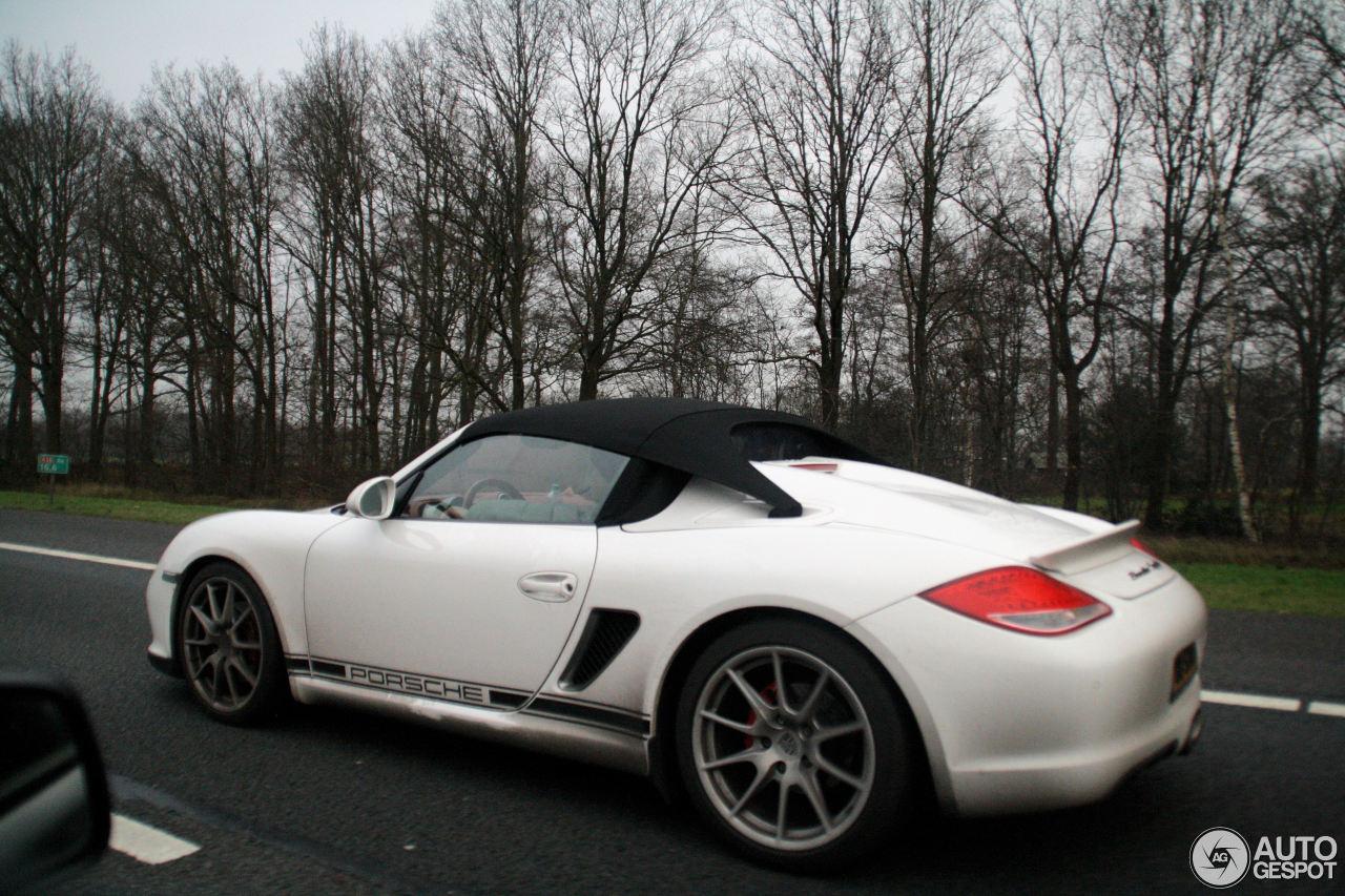 Porsche Boxster 2014 White Porsche Boxster Spyder...