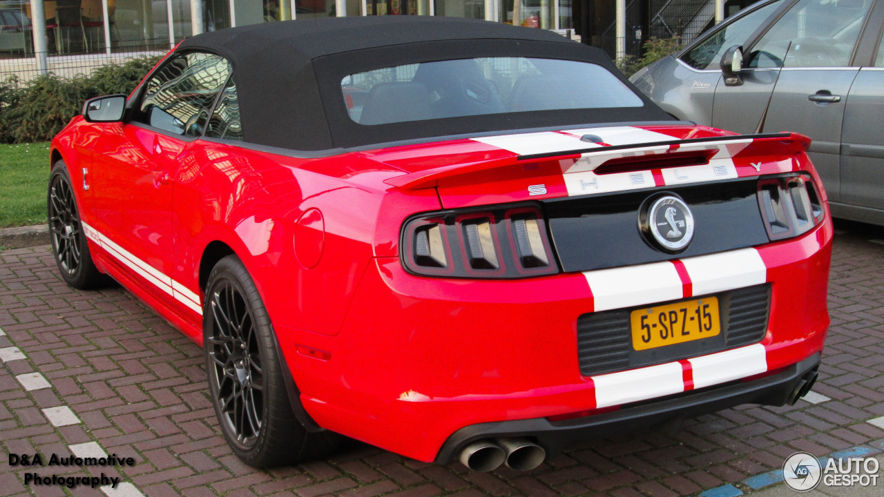 ford mustang shelby gt500 convertible 2014 19 februari 2014 autogespot. Black Bedroom Furniture Sets. Home Design Ideas