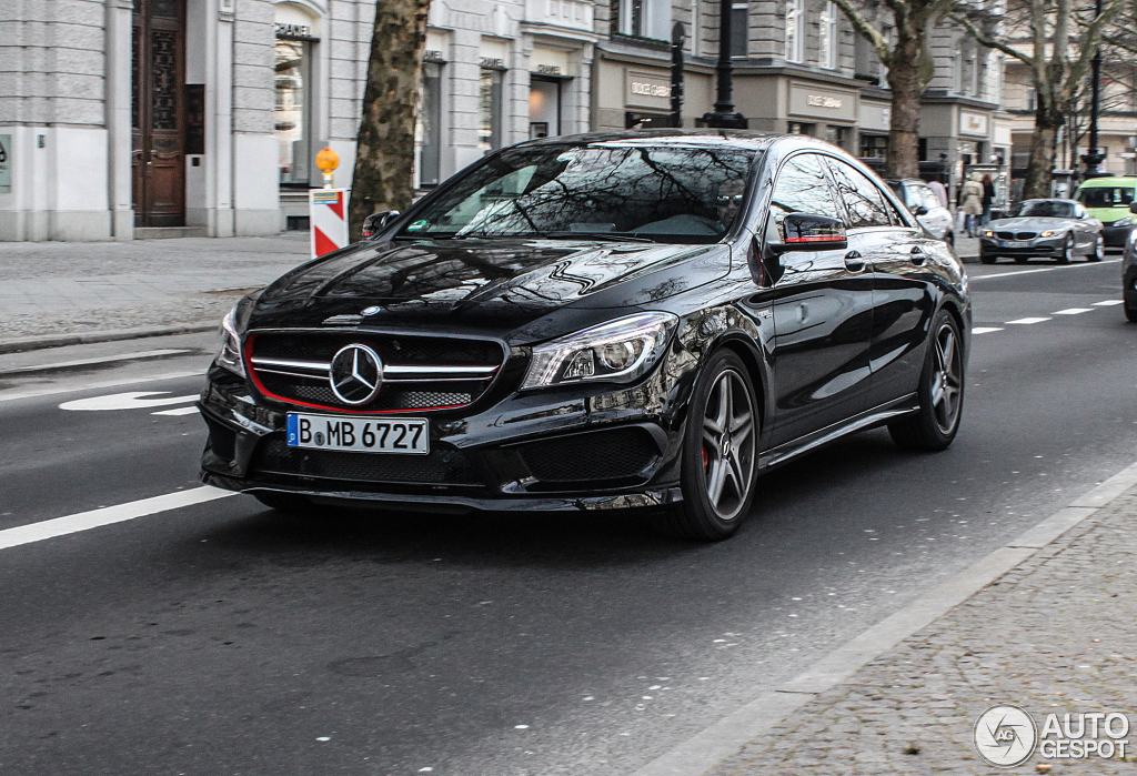 mercedes benz cla 45 amg edition 1 c117 27 february 2014 autogespot. Black Bedroom Furniture Sets. Home Design Ideas