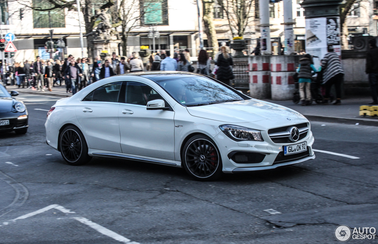 mercedes benz cla 45 amg c117 8 march 2014 autogespot. Black Bedroom Furniture Sets. Home Design Ideas