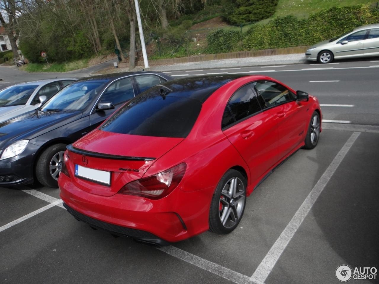 Mercedes benz cla 45 amg c117 24 march 2014 autogespot for Red mercedes benz cla