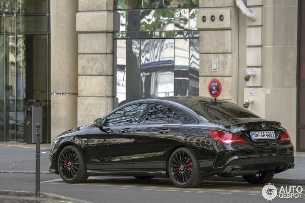 mercedes benz cla 45 amg edition 1 c117 30 mars 2014 autogespot. Black Bedroom Furniture Sets. Home Design Ideas