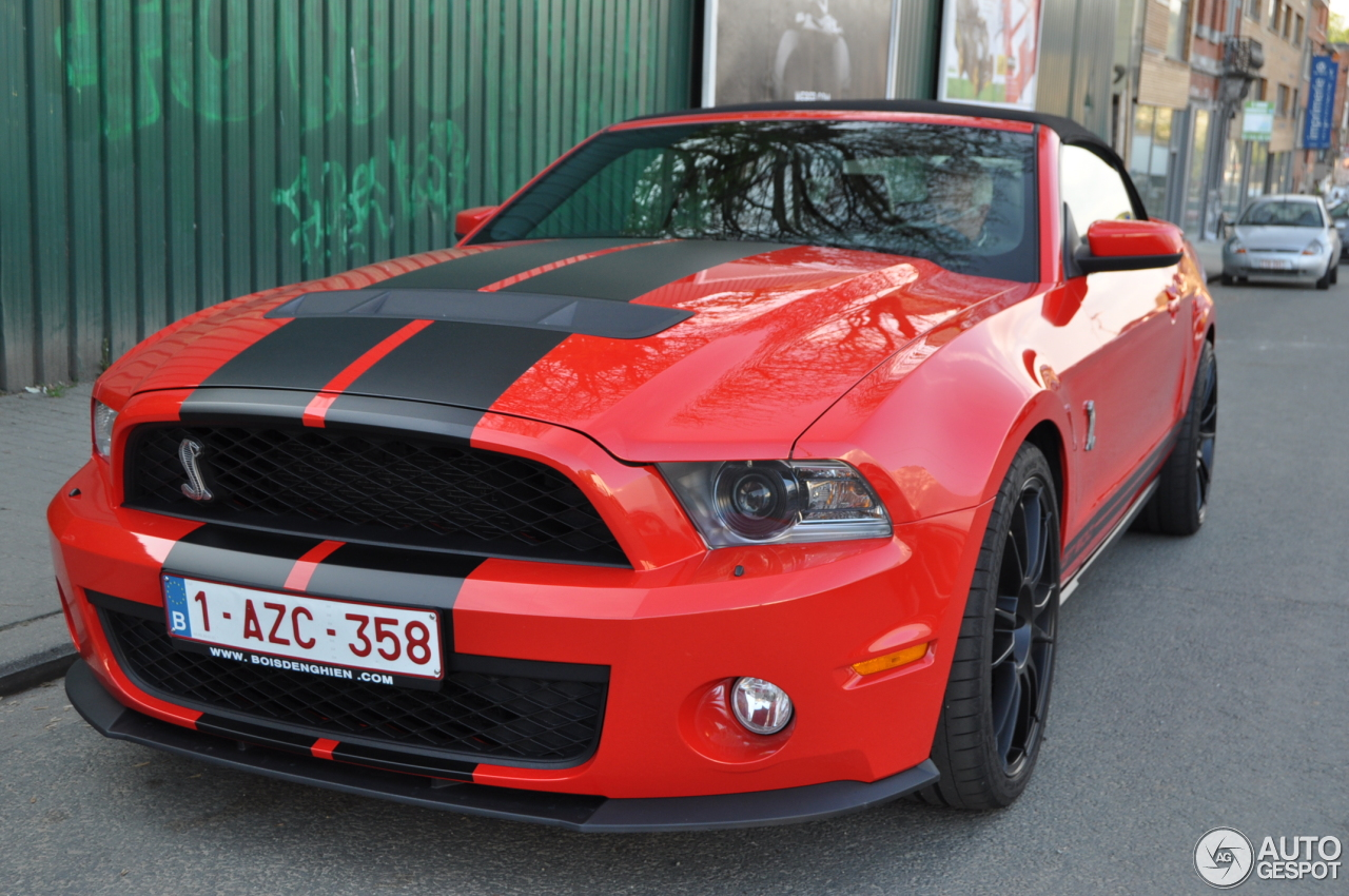 ford mustang shelby gt500 convertible 2010 10 avril 2014 autogespot. Black Bedroom Furniture Sets. Home Design Ideas