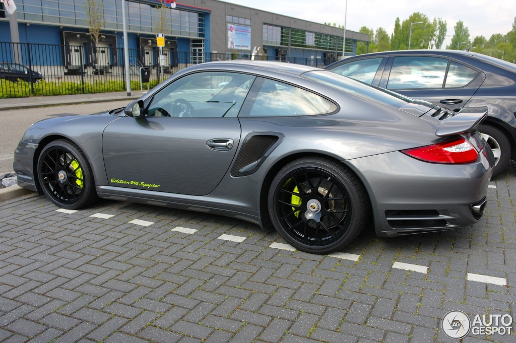 porsche 997 turbo s 918 spyder edition 23 april 2014 autogespot. Black Bedroom Furniture Sets. Home Design Ideas