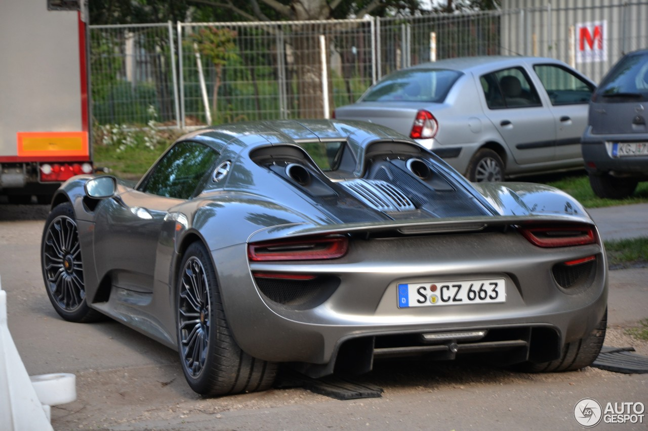 porsche 918 spyder 1 may 2014 autogespot. Black Bedroom Furniture Sets. Home Design Ideas
