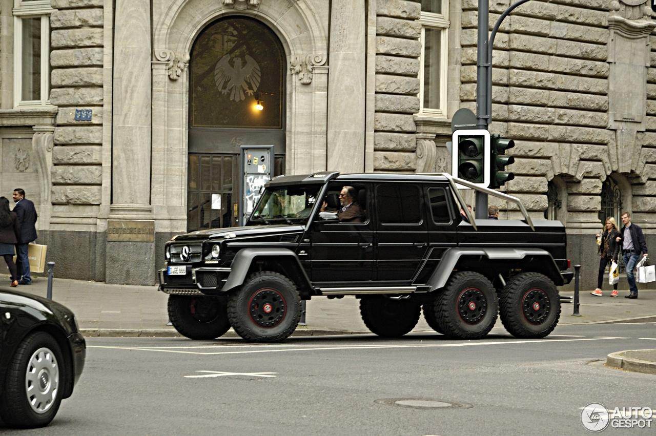 Mercedes benz g63 amg 6x6 la 4x4 mas grande del mundo for Mercedes benz 6x6 precio