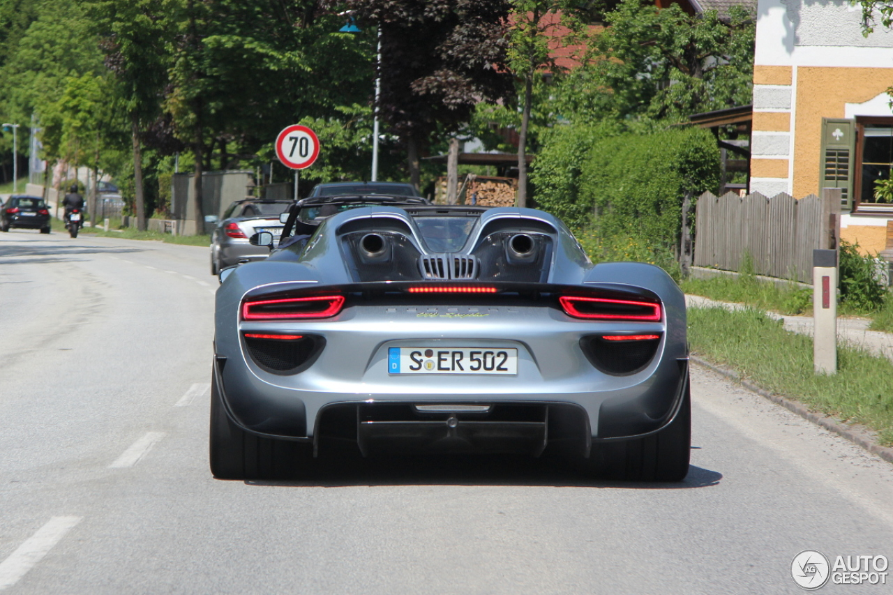 porsche 918 spyder weissach package 29 mei 2014 autogespot. Black Bedroom Furniture Sets. Home Design Ideas