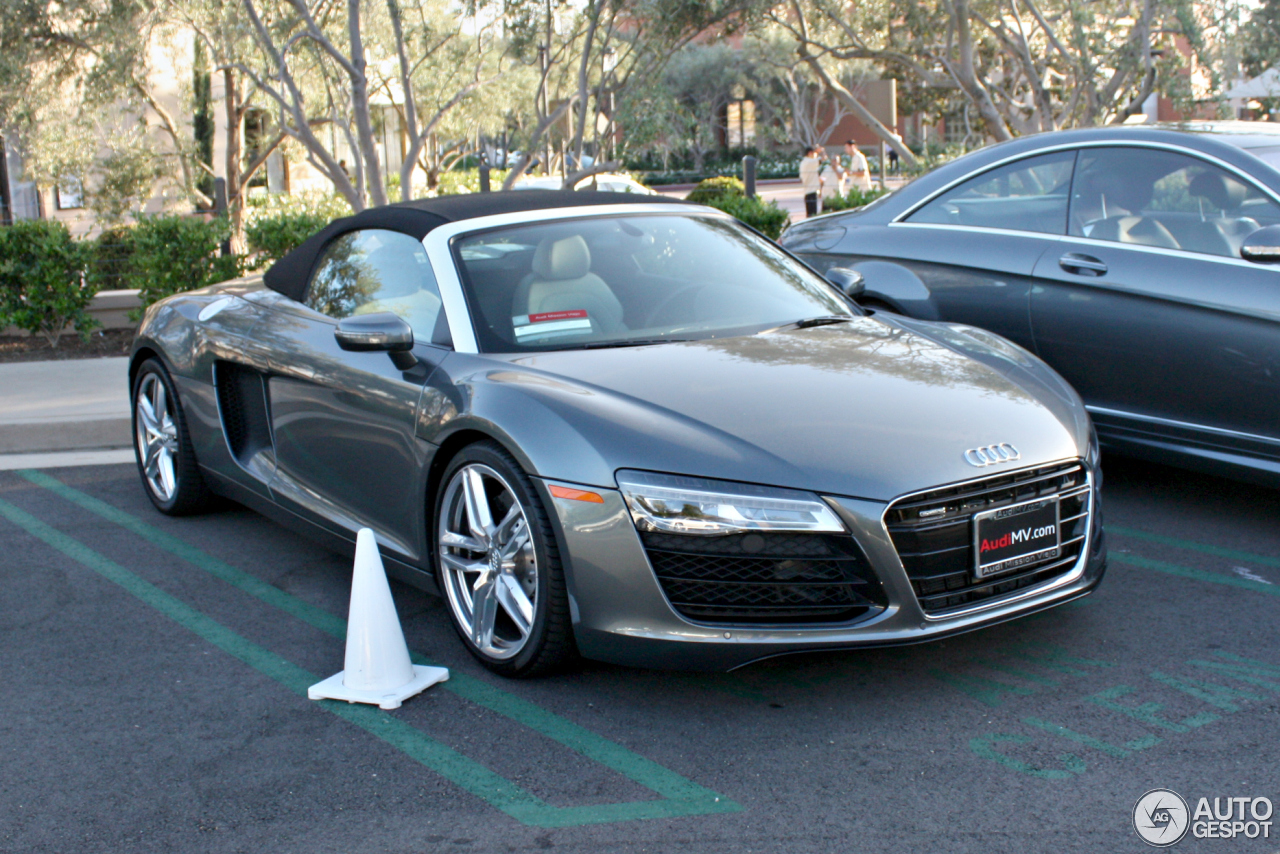 audi r8 v8 spyder 2013 1 june 2014 autogespot. Black Bedroom Furniture Sets. Home Design Ideas