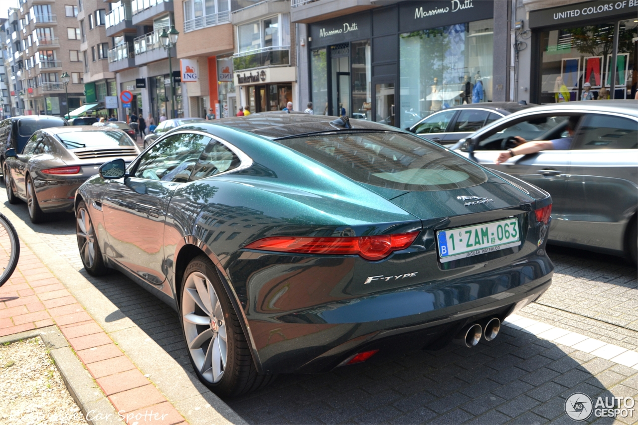 Jaguar f type coupe green - photo#2