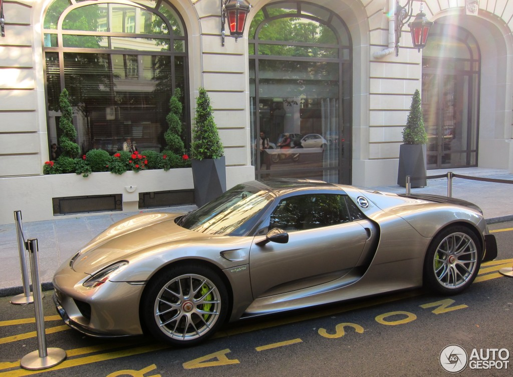 porsche 918 spyder weissach package 5 junho 2014 autogespot. Black Bedroom Furniture Sets. Home Design Ideas