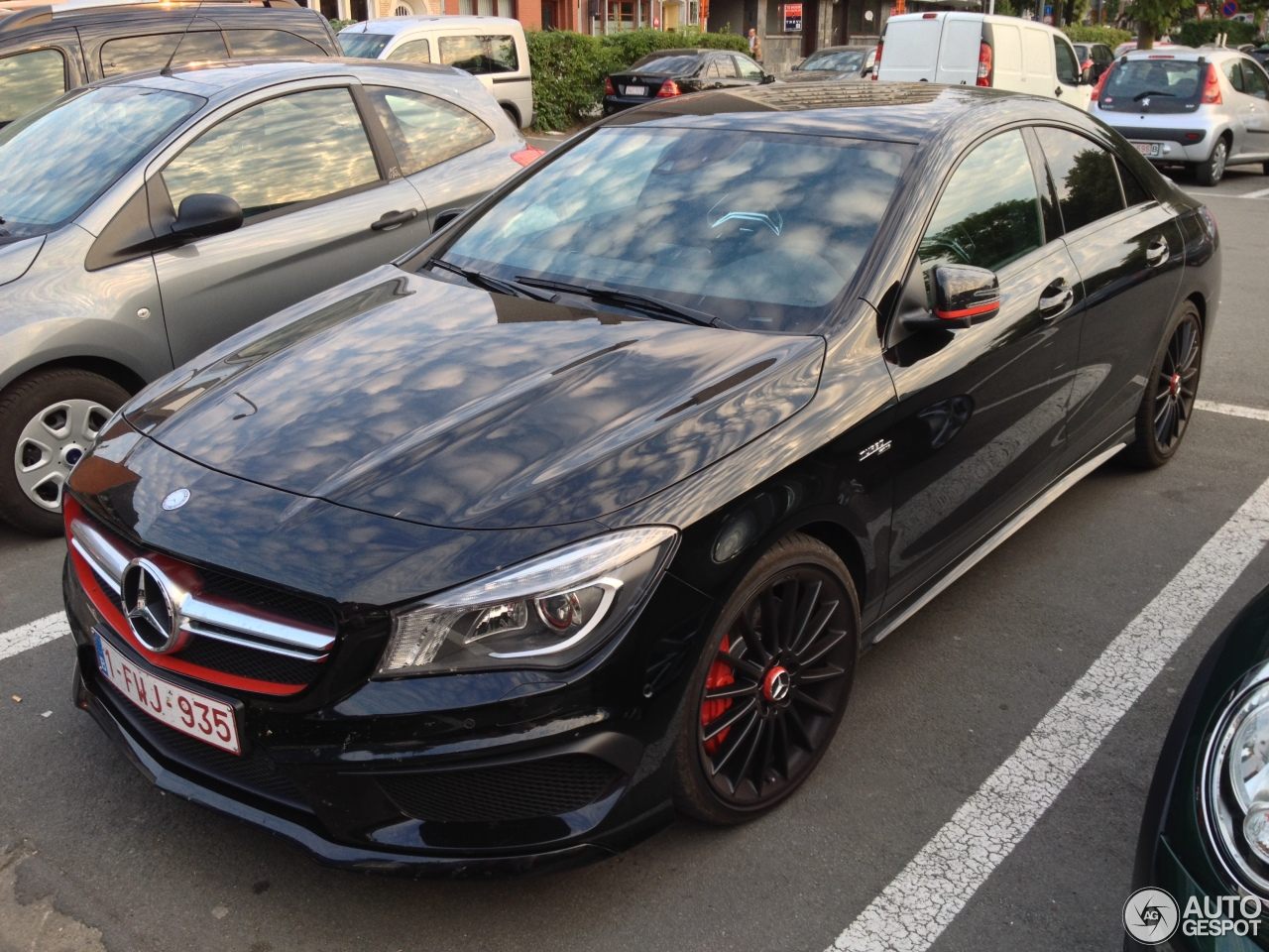 mercedes benz cla 45 amg edition 1 c117 27 june 2014 autogespot. Black Bedroom Furniture Sets. Home Design Ideas