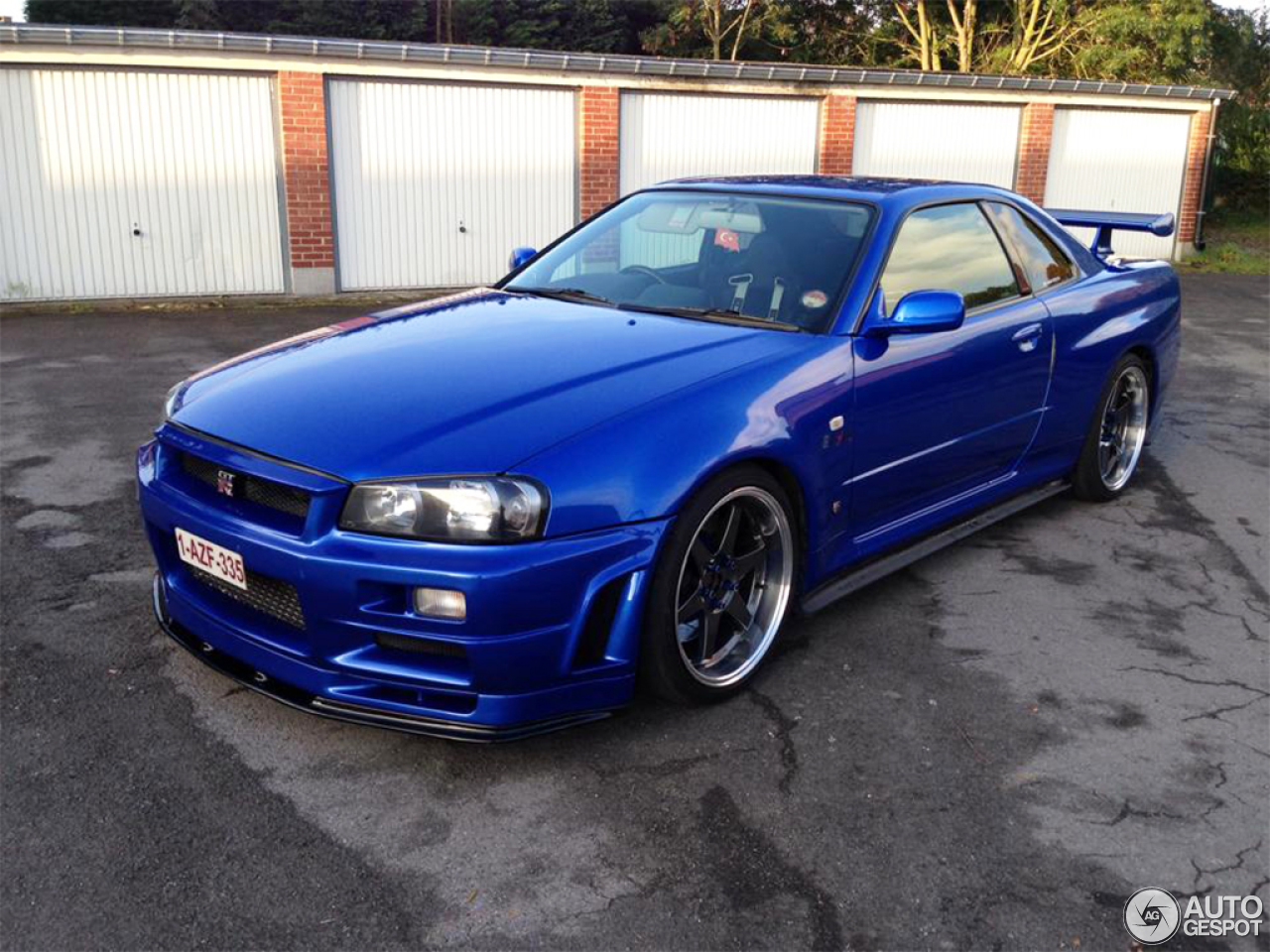 nissan skyline r34 gt r 7 july 2014 autogespot. Black Bedroom Furniture Sets. Home Design Ideas