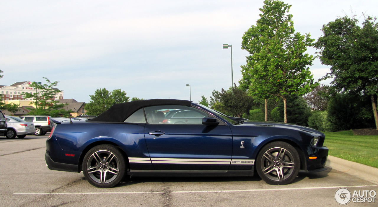 ford mustang shelby gt500 convertible 2010 11 july 2014. Black Bedroom Furniture Sets. Home Design Ideas
