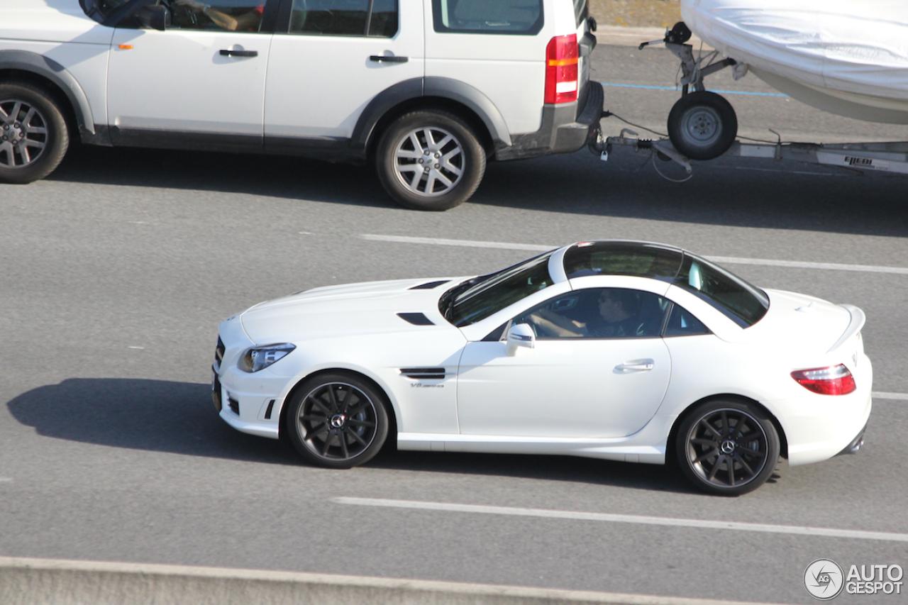 2014 Mercedes Benz Slk55 Amg Front In Motion Banking Sharpening ...