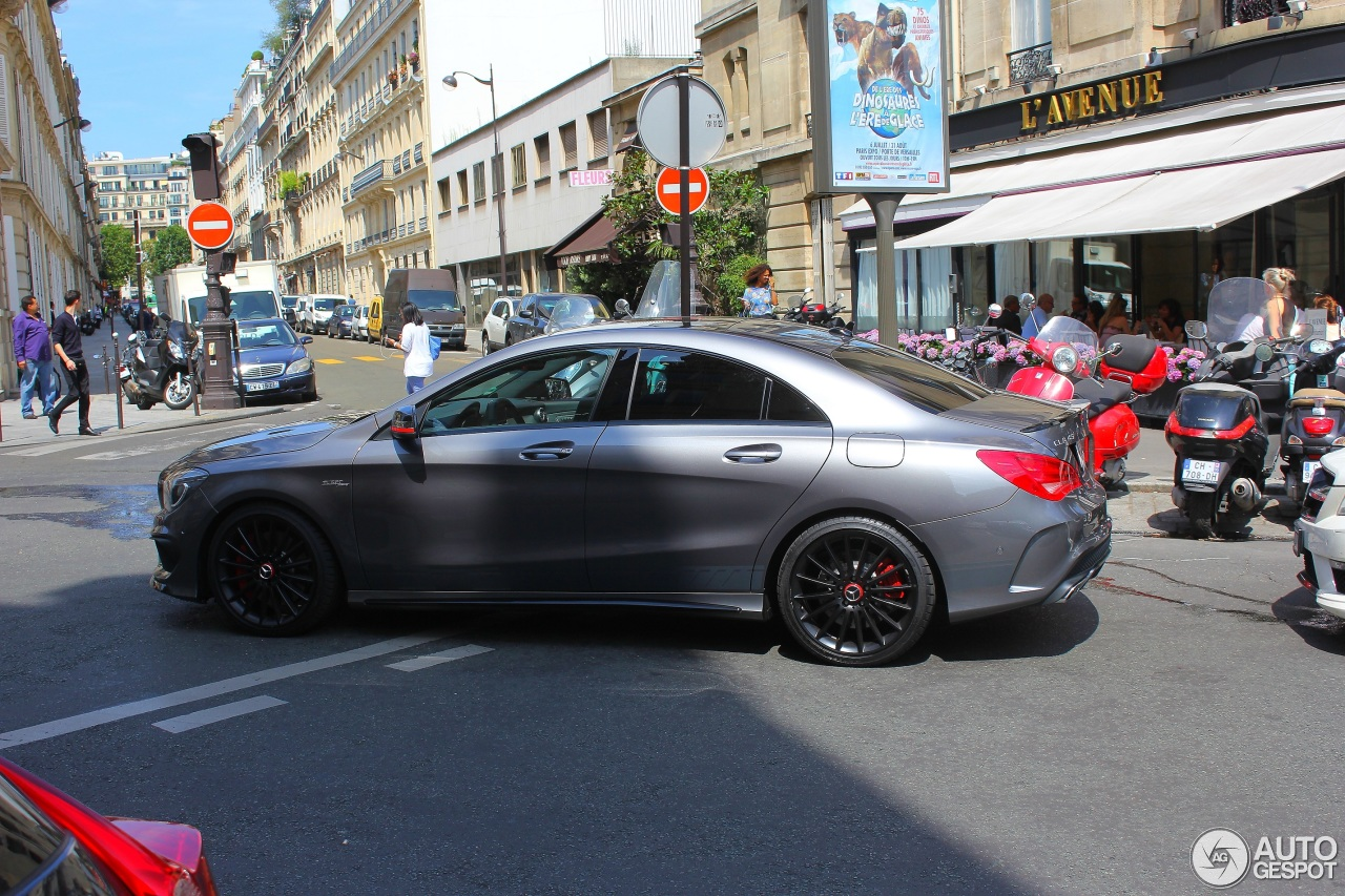 mercedes benz cla 45 amg edition 1 c117 31 juillet 2014 autogespot. Black Bedroom Furniture Sets. Home Design Ideas