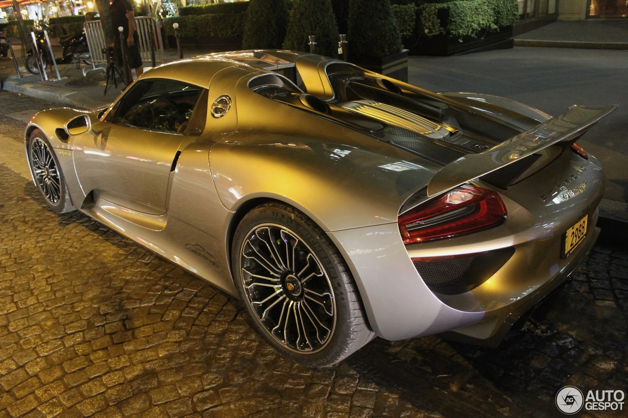 porsche 918 spyder 1 august 2014 autogespot. Black Bedroom Furniture Sets. Home Design Ideas