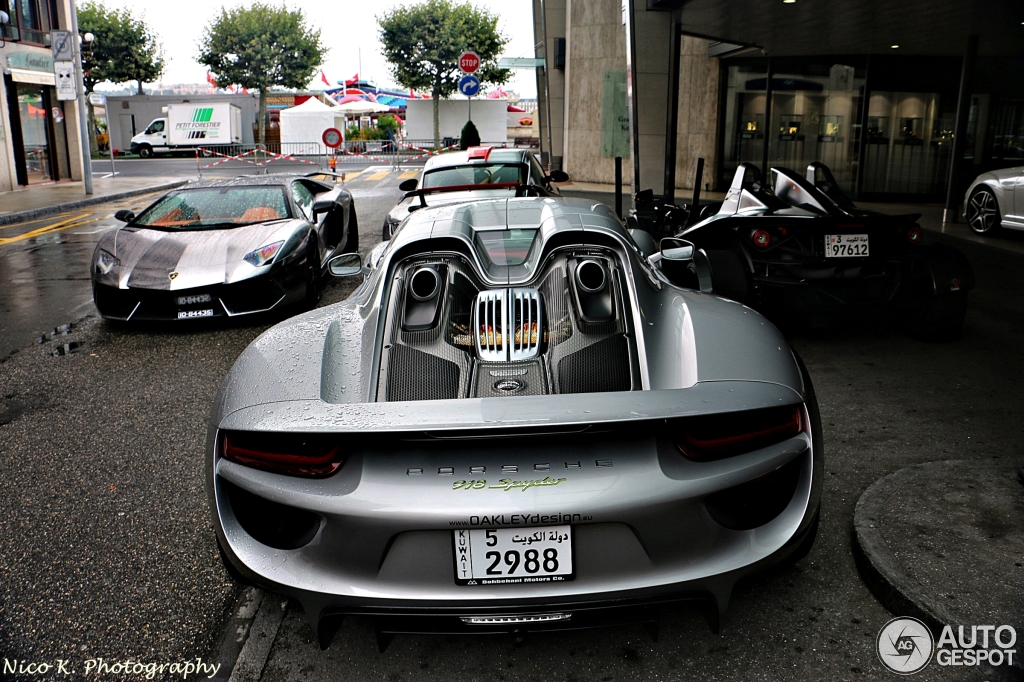 porsche 918 spyder 10 augustus 2014 autogespot. Black Bedroom Furniture Sets. Home Design Ideas