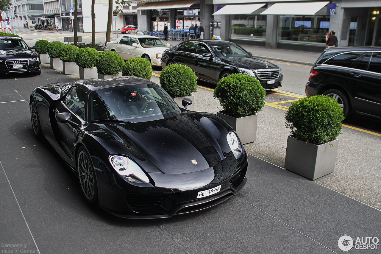 porsche 918 spyder black. 4 i porsche 918 spyder weissach package black