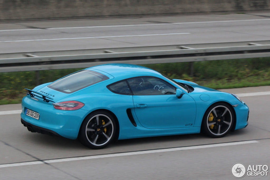 porsche 981 cayman gts 1 september 2014 autogespot. Black Bedroom Furniture Sets. Home Design Ideas