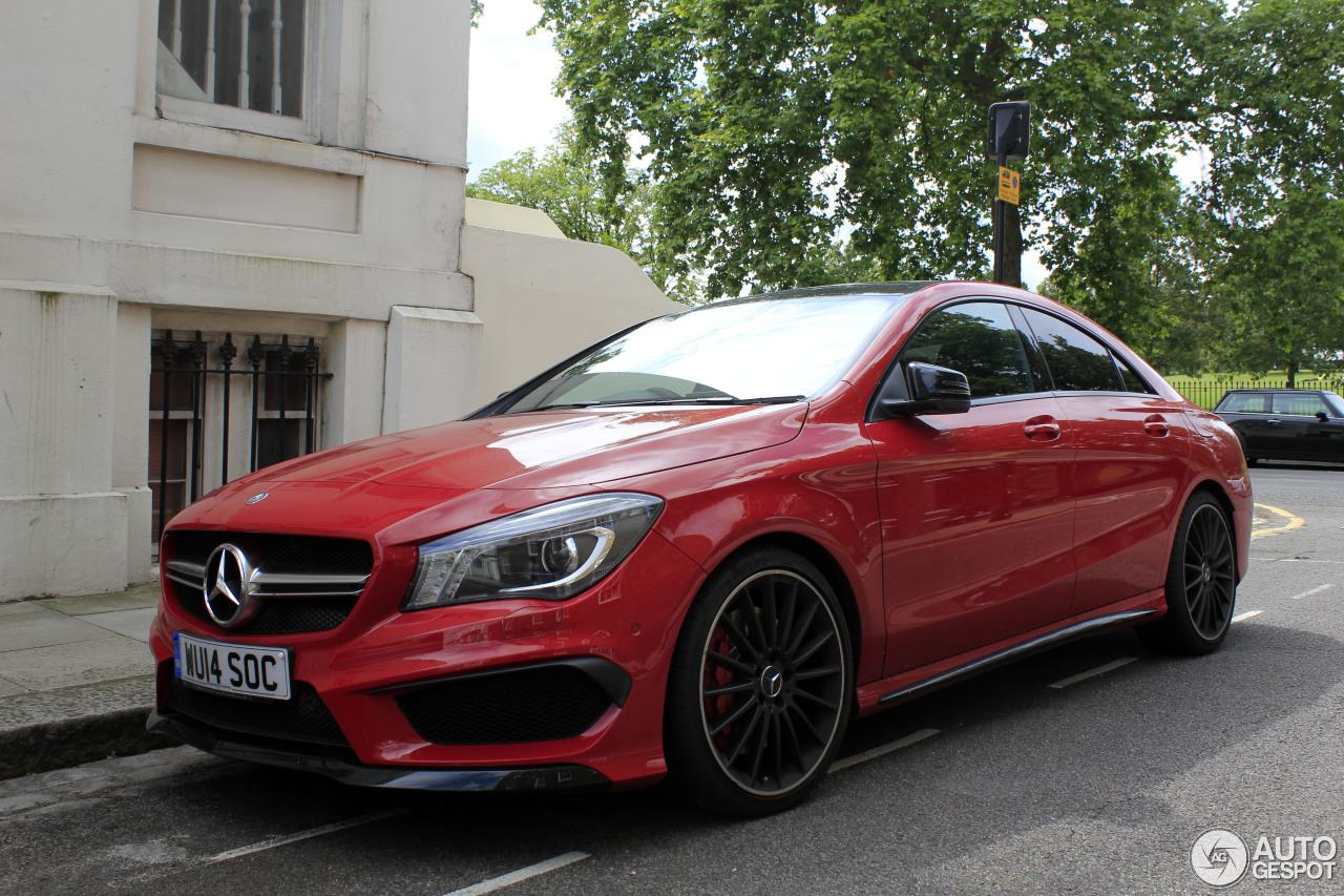 Mercedes benz cla 45 amg c117 6 september 2014 autogespot for Red mercedes benz cla
