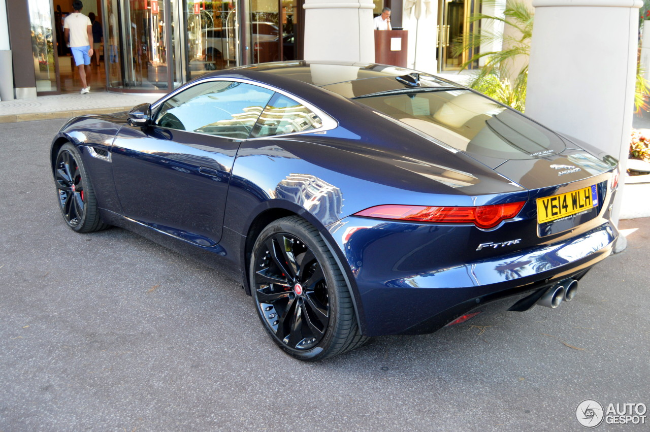 jaguar f type blue coupe. Black Bedroom Furniture Sets. Home Design Ideas