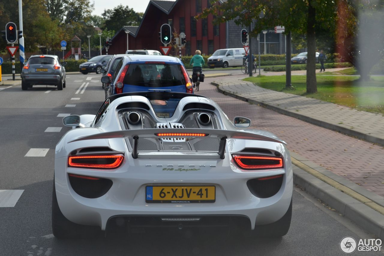 porsche 918 spyder 10 oktober 2014 autogespot. Black Bedroom Furniture Sets. Home Design Ideas