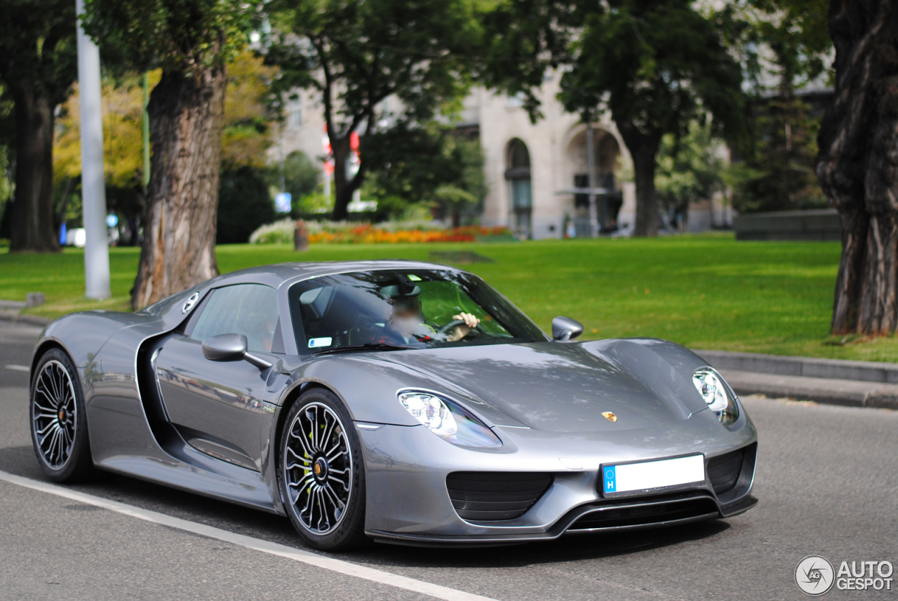 porsche 918 spyder 12 dezember 2014 autogespot. Black Bedroom Furniture Sets. Home Design Ideas