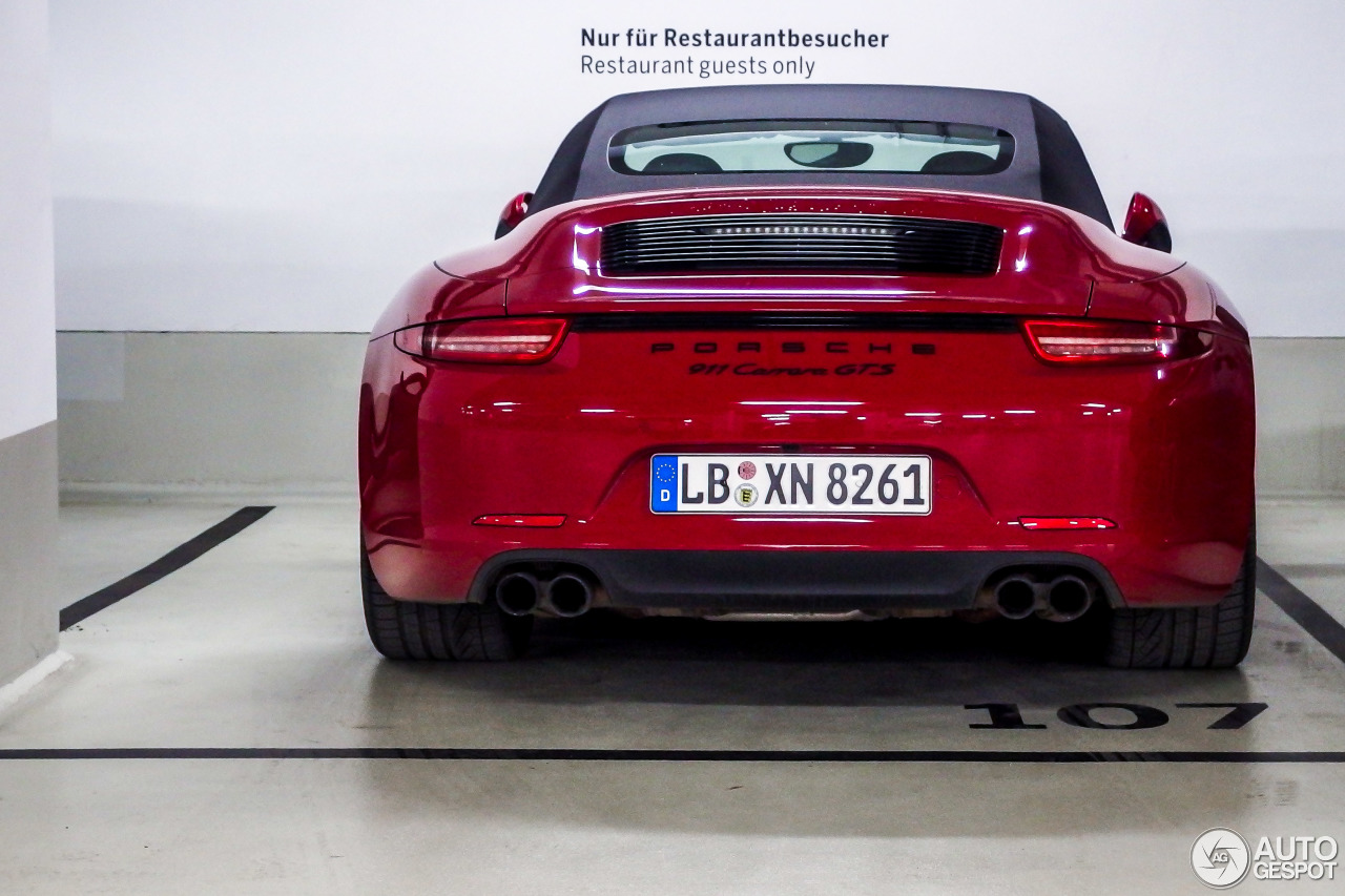 porsche 991 carrera gts cabriolet 18 december 2014 autogespot. Black Bedroom Furniture Sets. Home Design Ideas