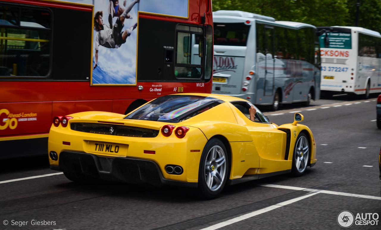Yellow Ferrari Enzo is finally home