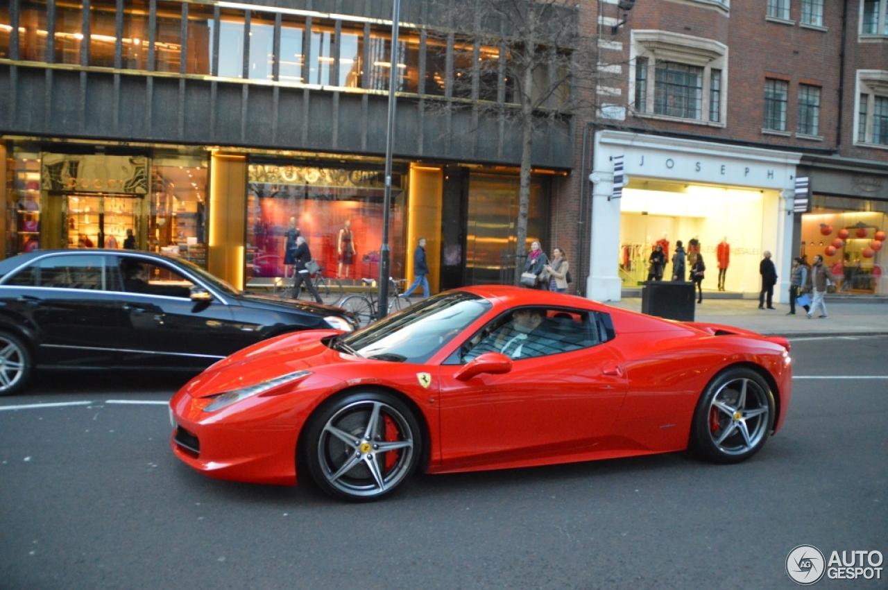 Ferrari 458 Spider 16 January 2014 Autogespot