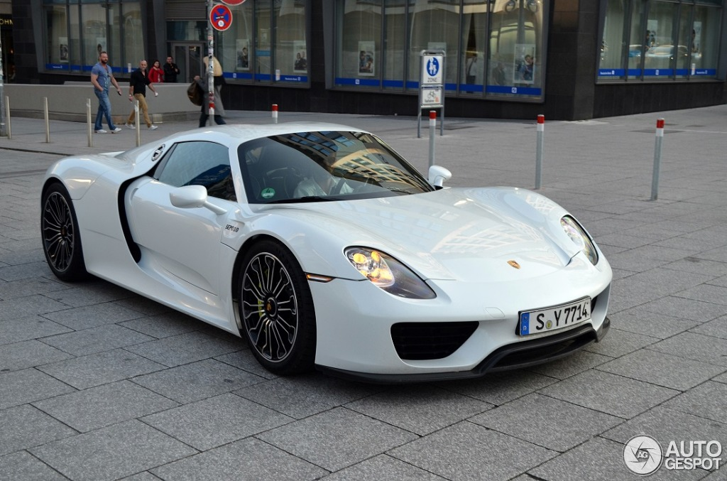 porsche 918 spyder 28 mrz 2014 autogespot. Black Bedroom Furniture Sets. Home Design Ideas