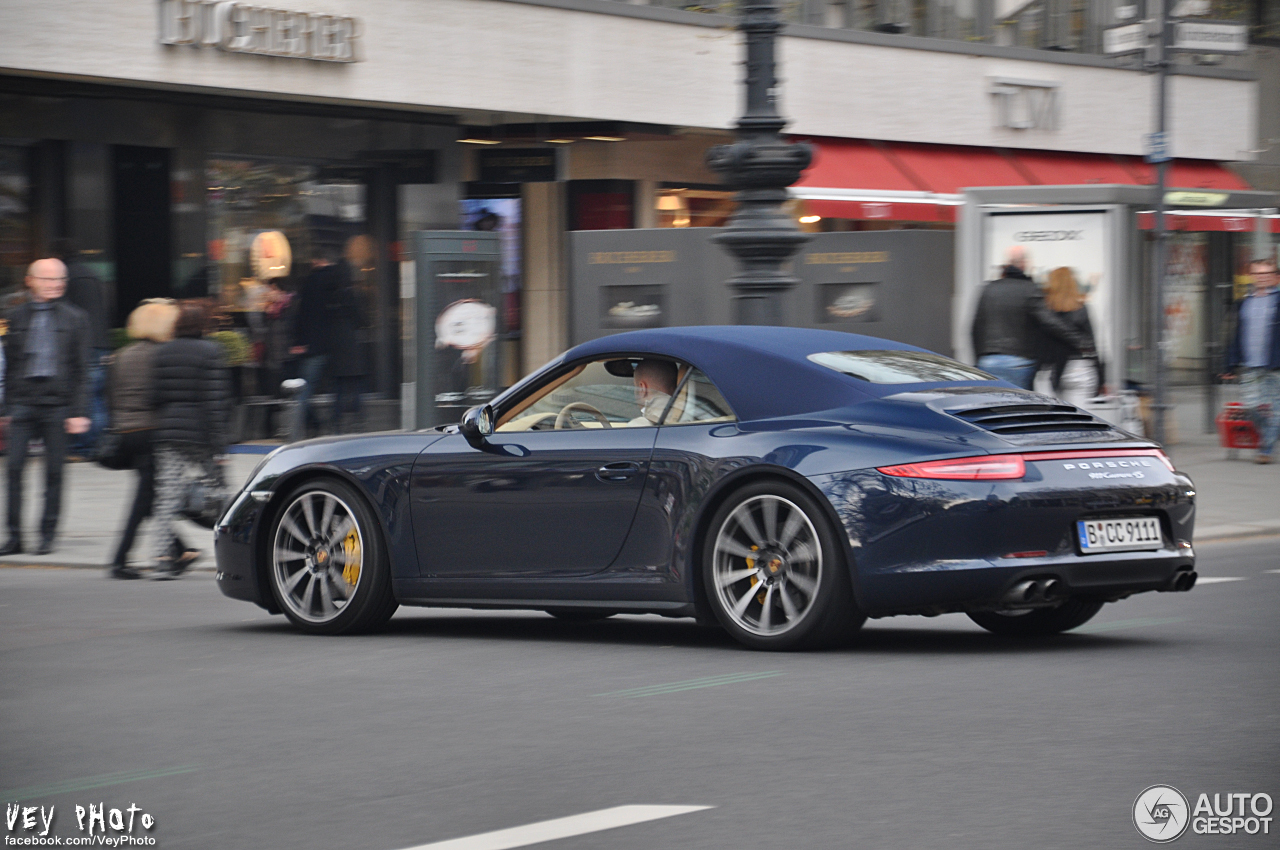 porsche 991 carrera 4s cabriolet 9 april 2014 autogespot. Black Bedroom Furniture Sets. Home Design Ideas