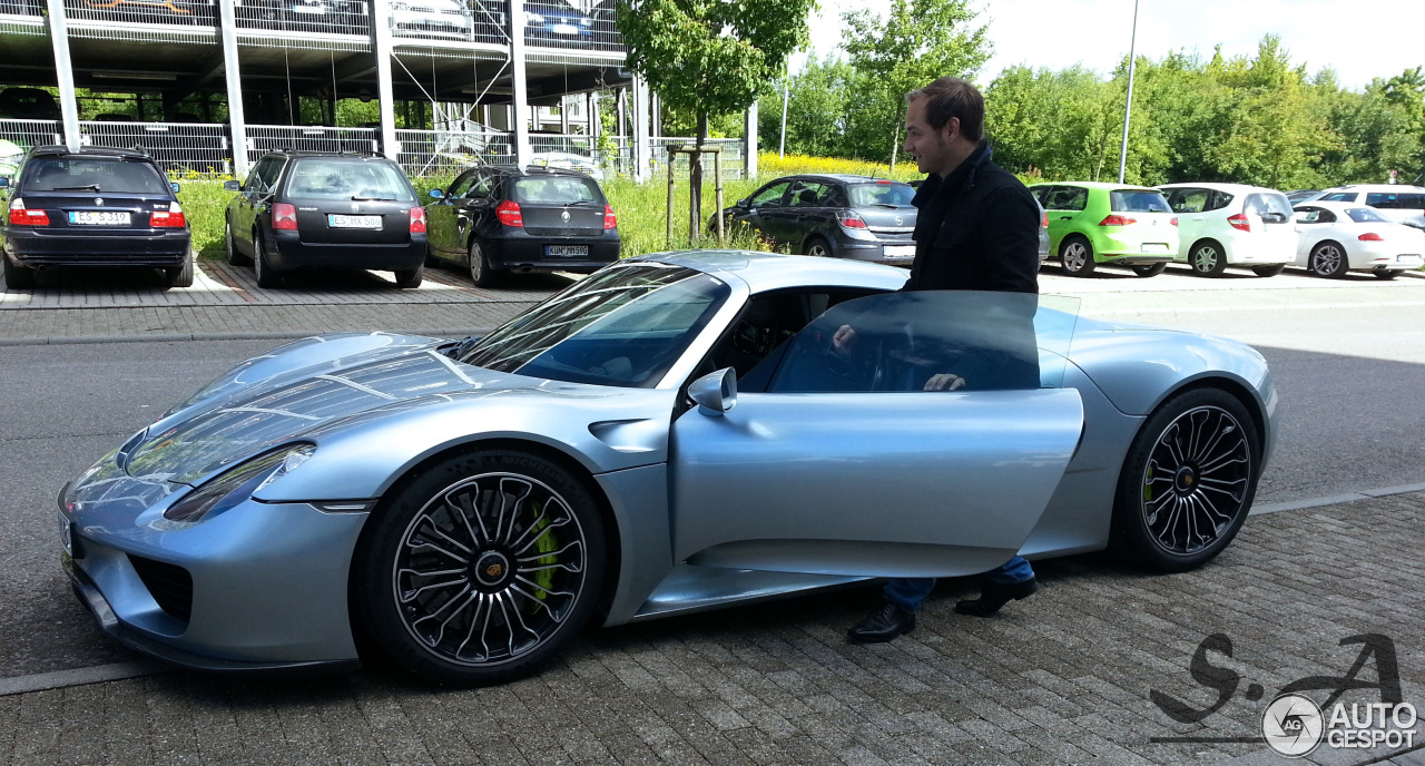 porsche 918 spyder 14 mai 2014 autogespot. Black Bedroom Furniture Sets. Home Design Ideas