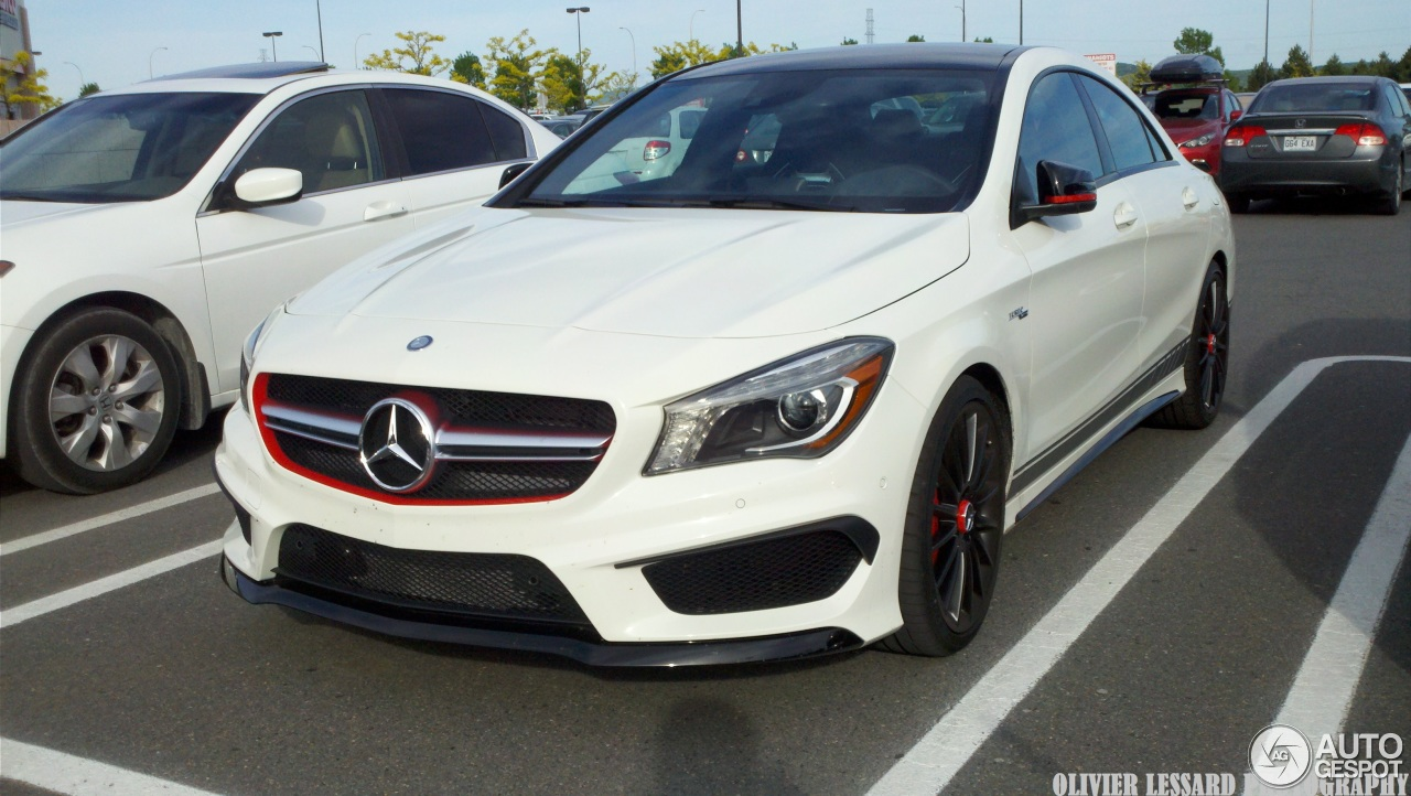 mercedes benz cla 45 amg edition 1 c117 27 july 2014 autogespot. Black Bedroom Furniture Sets. Home Design Ideas