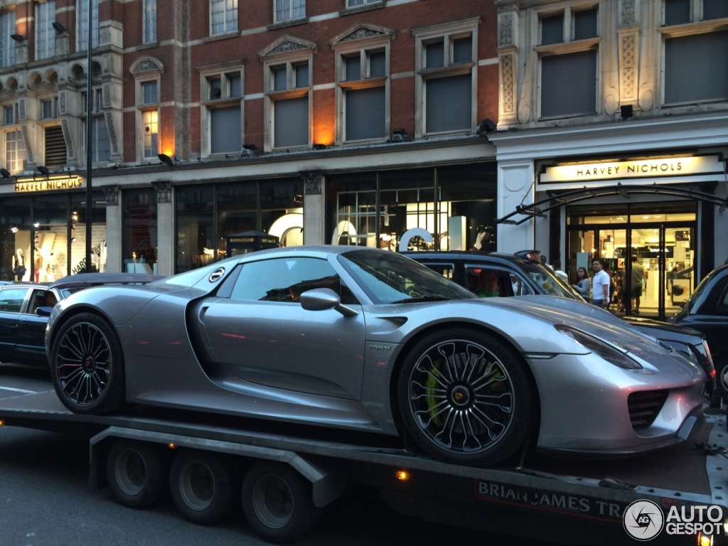 porsche 918 spyder 30 july 2014 autogespot. Black Bedroom Furniture Sets. Home Design Ideas