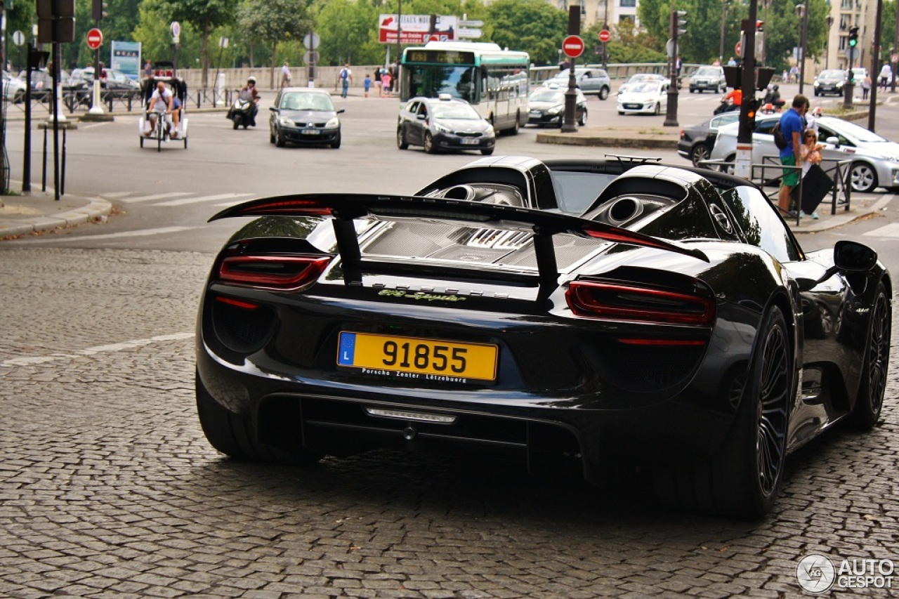 porsche 918 spyder 2 august 2014 autogespot. Black Bedroom Furniture Sets. Home Design Ideas