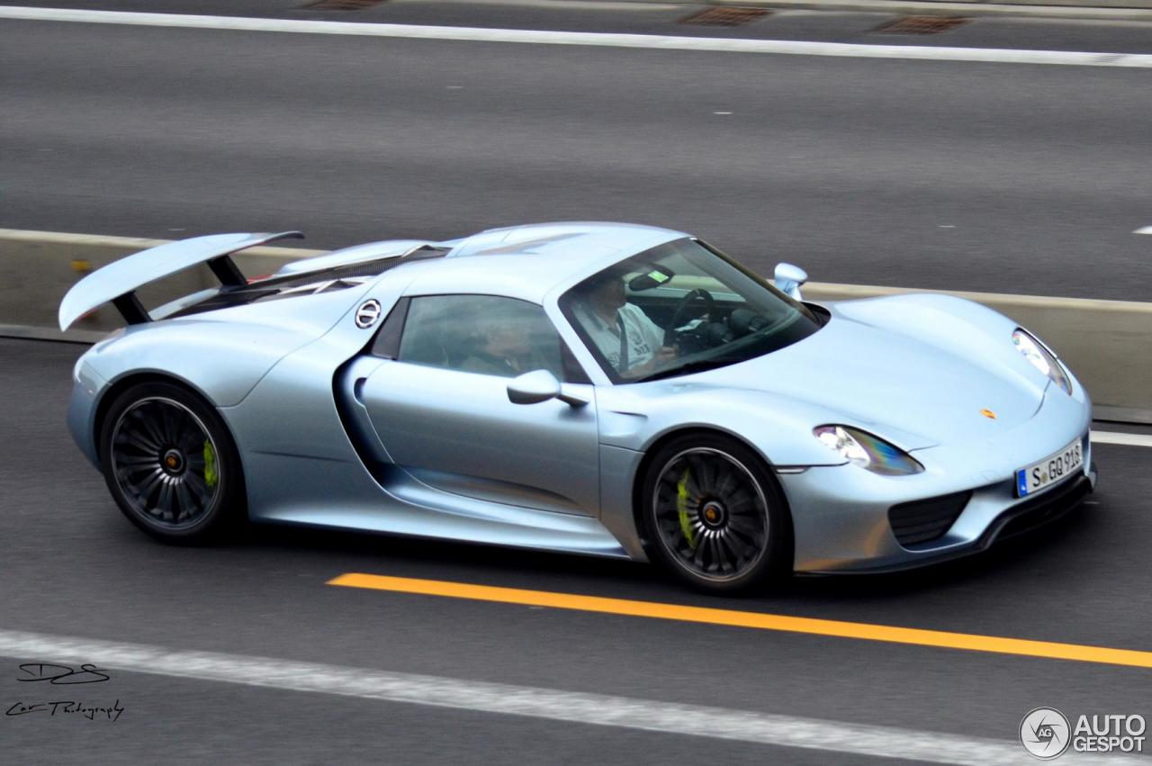 porsche 918 spyder 3 august 2014 autogespot. Black Bedroom Furniture Sets. Home Design Ideas