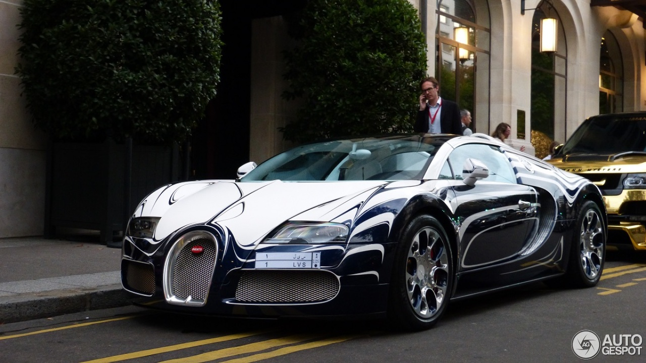 bugatti veyron 16 4 grand sport l 39 or blanc 8 august 2014. Black Bedroom Furniture Sets. Home Design Ideas