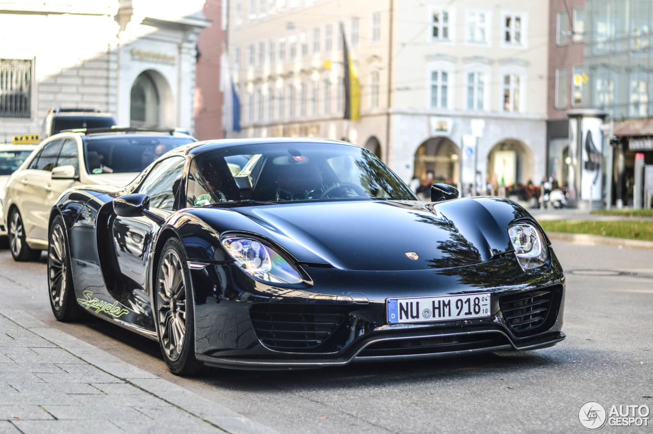 porsche 918 spyder 25 september 2014 autogespot. Black Bedroom Furniture Sets. Home Design Ideas