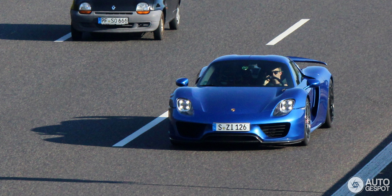 porsche 918 spyder 27 september 2014 autogespot. Black Bedroom Furniture Sets. Home Design Ideas